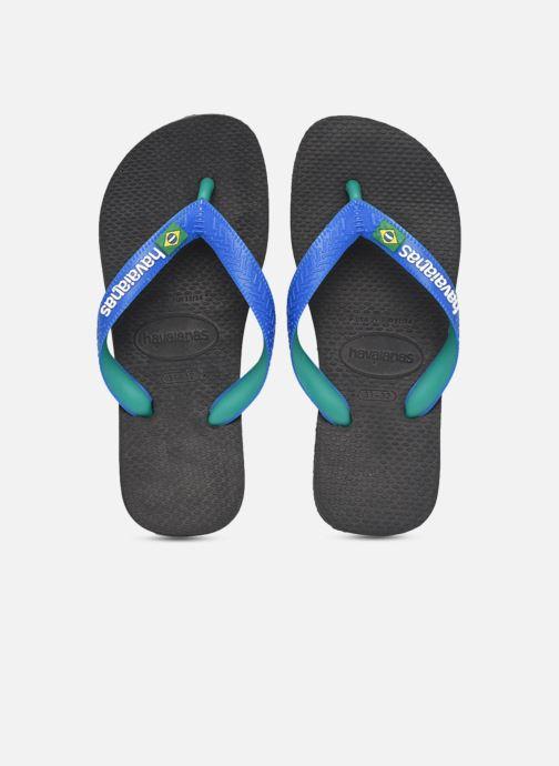 Tongs Havaianas Brasil Mix K Noir vue portées chaussures