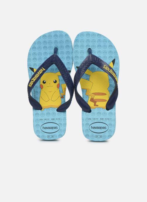 Tongs Havaianas Kids Top Pokemon Bleu vue portées chaussures