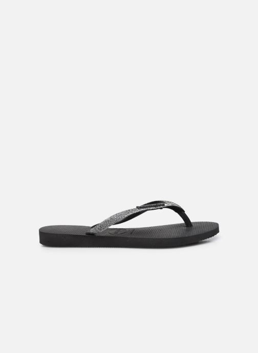 Slippers Havaianas Slim Glitter II Zwart achterkant