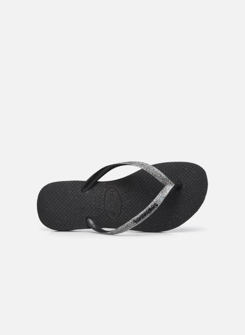 Slippers Havaianas Slim Glitter II Zwart links