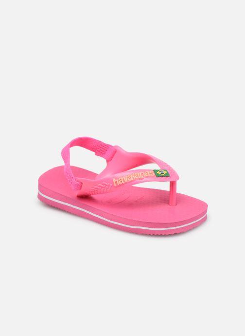 Slippers Havaianas Baby Brasil Logo II Roze detail