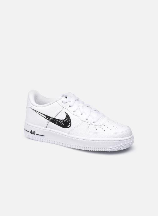 Sneaker Nike Nike Air Force 1 Low Gs weiß detaillierte ansicht/modell