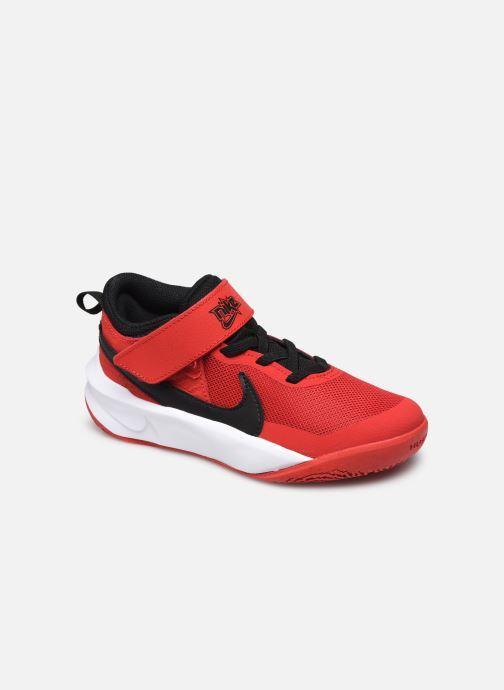 Baskets Nike Team Hustle D 10 (Ps) Rouge vue détail/paire
