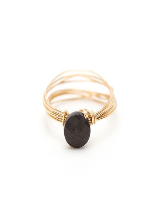 Sonstiges YAY Paris bague bouton multirangs or jaune noir gold/bronze detaillierte ansicht/modell