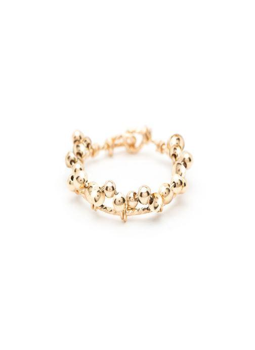 bague dentelle perles or jaune sans pierre