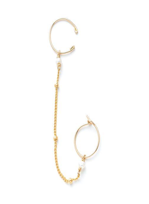 Sonstiges YAY Paris Bijou d'oreille satellite Chainette or jaune blanc gold/bronze detaillierte ansicht/modell