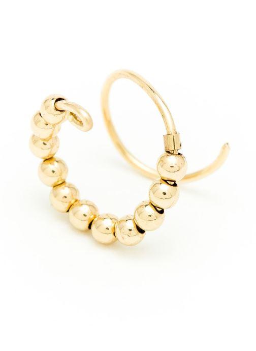 Altro Accessori Boucle d'oreilles Fruits d'or Double or jaune sans pierre gauche