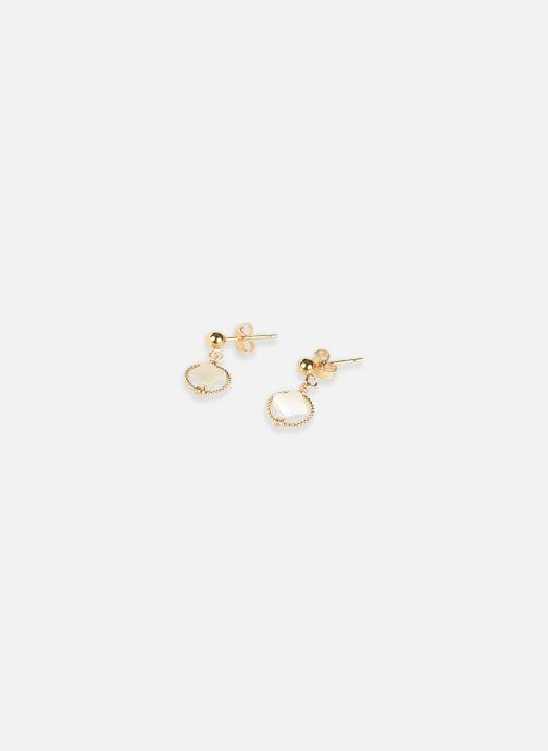 Divers Accessoires Boucle d'oreilles swan étoile or jaune blanc paire