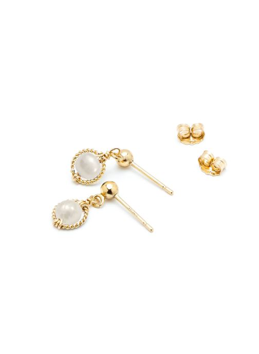 Divers Accessoires Boucle d'oreilles swan Rond or jaune blanc paire