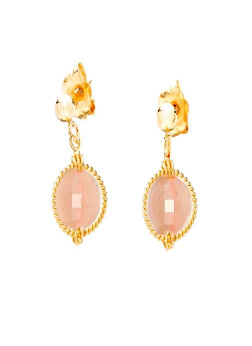 Divers Accessoires Boucle d'oreilles swan Rond or jaune rose clair paire