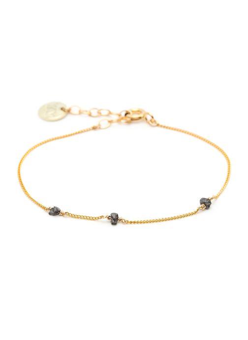 Divers Accessoires bracelet diamants Simple or jaune noir