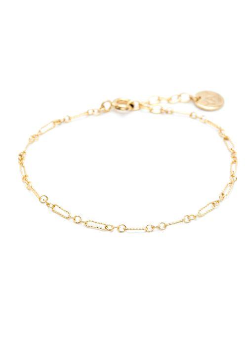 Divers YAY Paris bracelet essentiel Forcat or jaune sans pierre Goud en brons detail