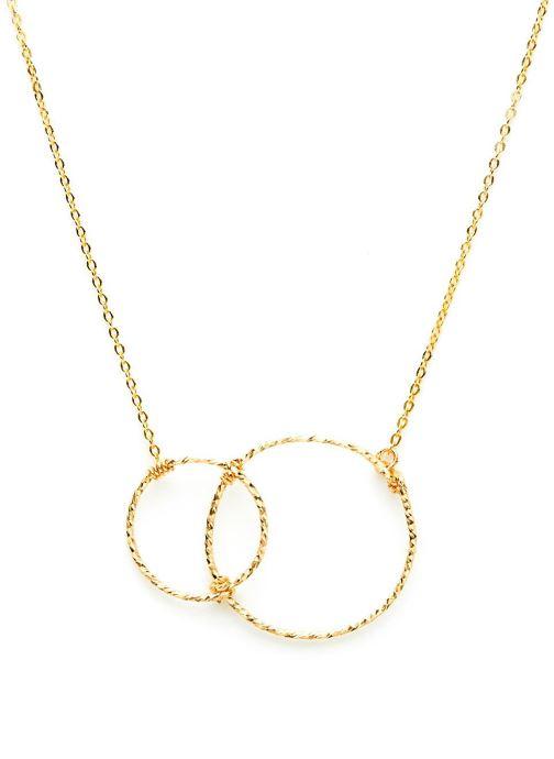 collier eclat infini or jaune sans pierre