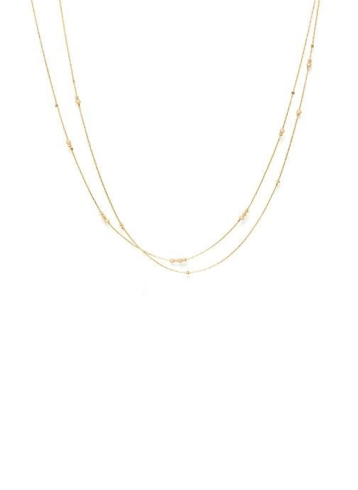 Sonstiges Accessoires collier Fruits d'or Double or jaune sans pierre