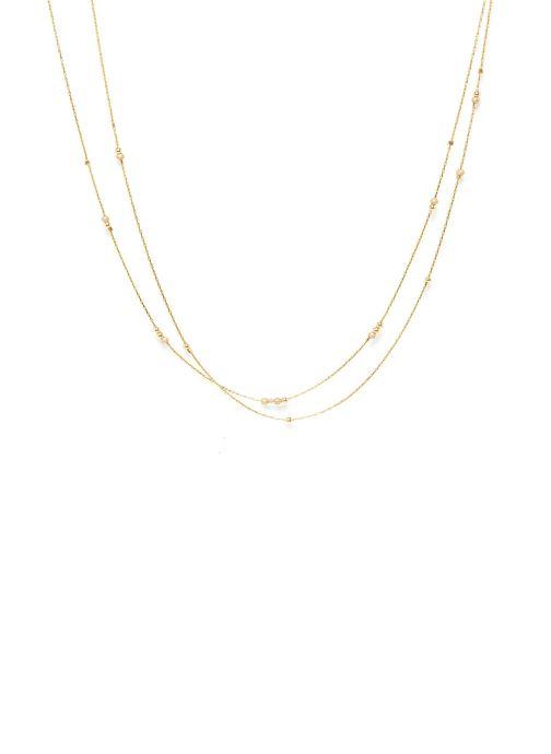 Sonstiges YAY Paris collier Fruits d'or Double or jaune sans pierre gold/bronze detaillierte ansicht/modell