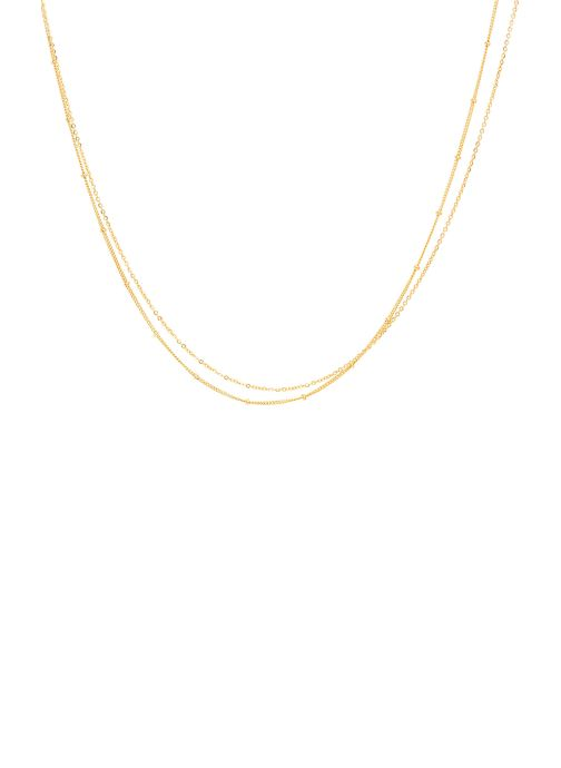 collier satellite Double or jaune sans pierre