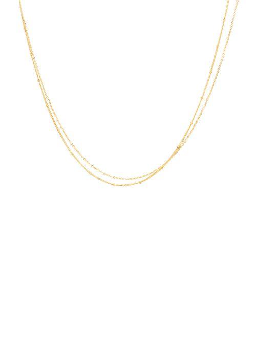 Sonstiges YAY Paris collier satellite Double or jaune sans pierre gold/bronze detaillierte ansicht/modell