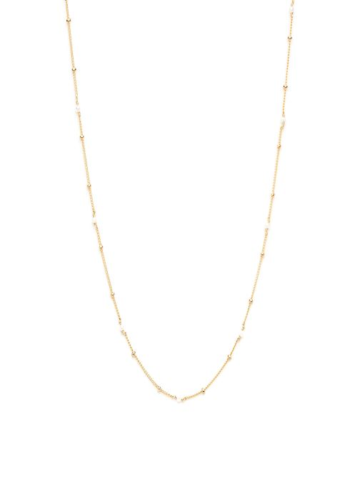 collier satellite pierres or jaune blanc