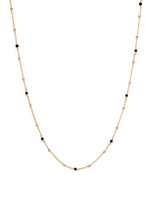 collier satellite pierres or jaune noir