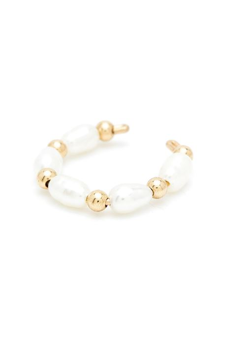 Faux piercing Grain de riz Simple or jaune blanc