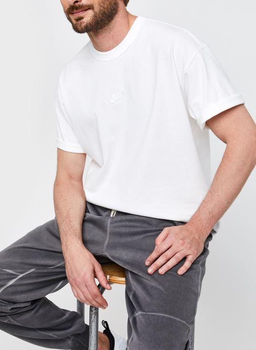 Vêtements Nike M Nsw Tee Premium Essential Blanc vue détail/paire