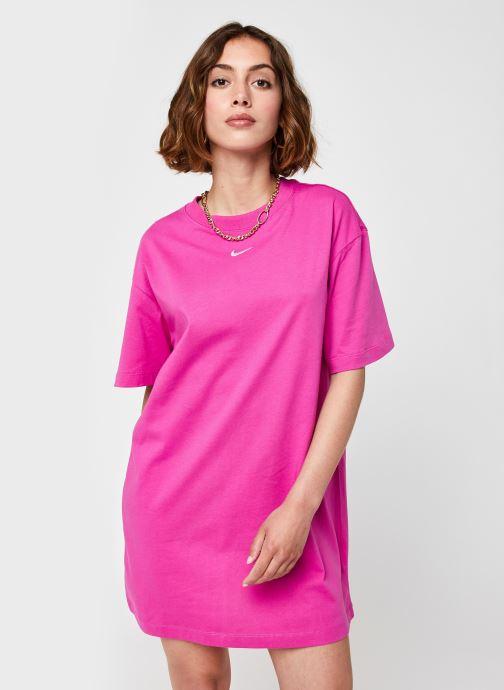 Vêtements Nike W Nsw Essntl Ss Drss Violet vue détail/paire