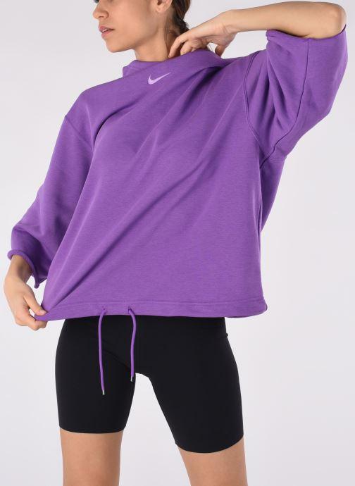 Abbigliamento Nike W Nsw Icn Clsh Ss Hoodie Ft Viola vedi dettaglio/paio
