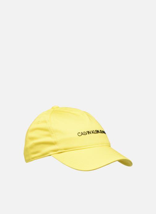Casquettes Calvin Klein Institutional Logo Baseball Cap Jaune vue détail/paire