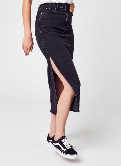 Vêtements Calvin Klein Jeans Maxi Skirt Noir vue détail/paire
