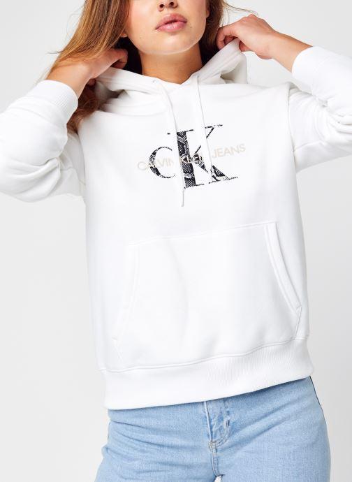 Kleding Calvin Klein Jeans Reptile Monogram Hoodie Wit detail