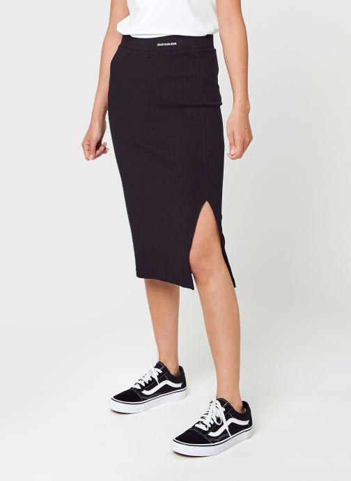 Kleding Calvin Klein Jeans Rib Skirt Zwart detail