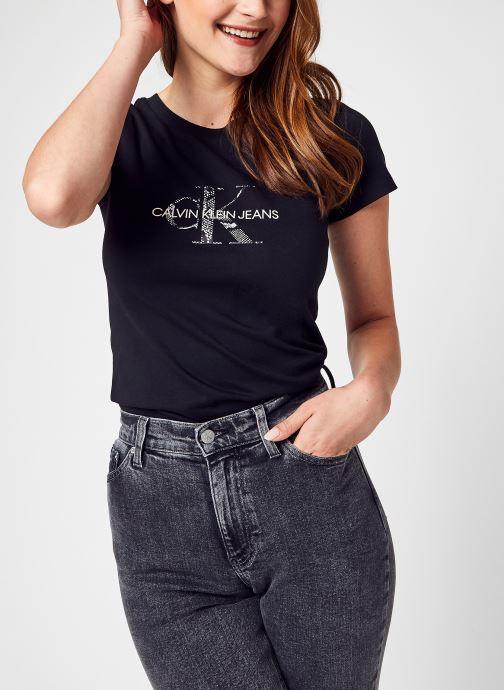 Kleding Calvin Klein Jeans Seasonal Filled Mono Zwart detail