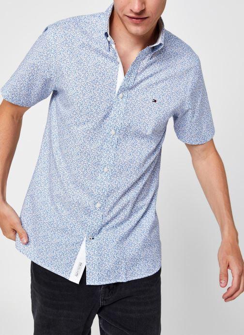 Ropa Tommy Hilfiger Soft Mini Floral Print Shirt S/s Azul vista de detalle / par