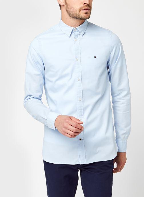Vêtements Tommy Hilfiger Slim Flex Dobby Shirt Bleu vue détail/paire