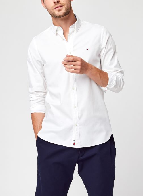 Ropa Tommy Hilfiger Slim Flex Dobby Shirt Blanco vista de detalle / par