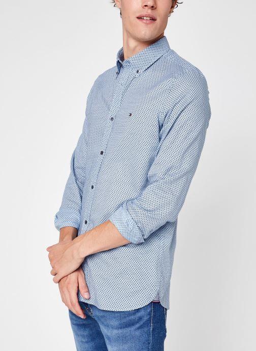 Vêtements Tommy Hilfiger Slim Oxford Mini Print Shirt Bleu vue détail/paire