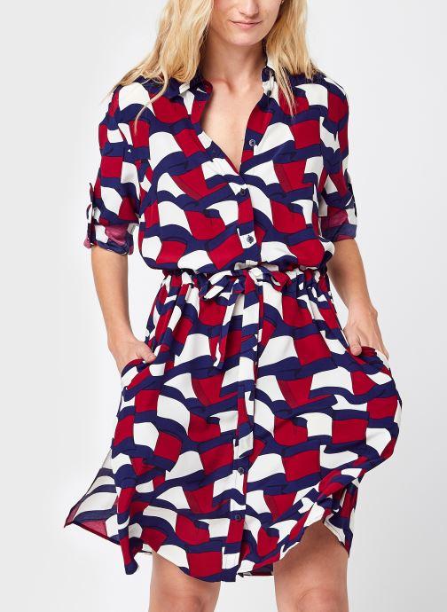 Vêtements Tommy Hilfiger Viscose Knee Shirt Dress LS Multicolore vue détail/paire