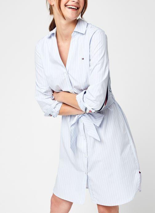 Ropa Tommy Hilfiger Monica Knee Shirt Dress LS Azul vista de detalle / par
