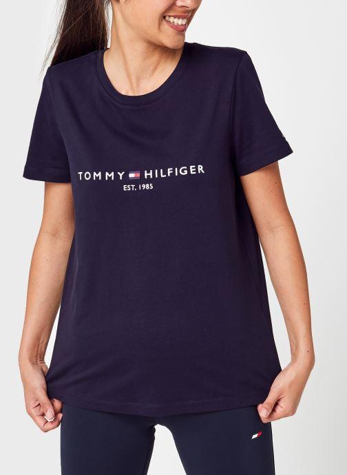 Vêtements Tommy Hilfiger Heritage Hilfiger C-Nk Reg Tee Bleu vue détail/paire