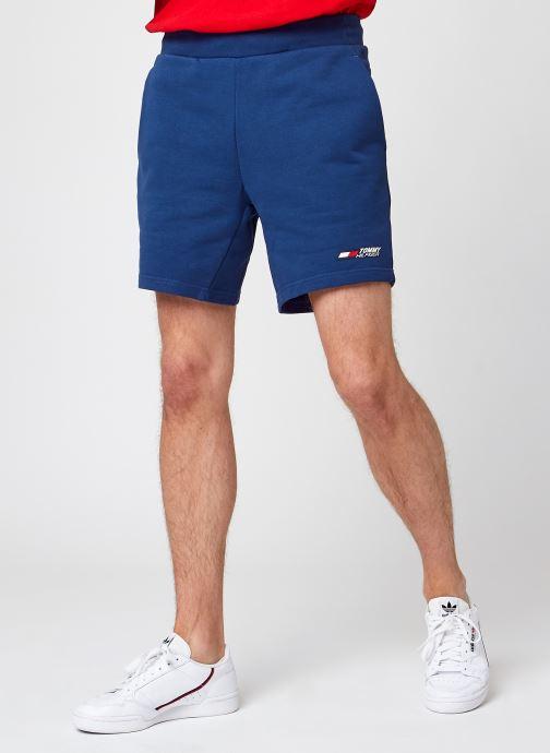 Vêtements Tommy Sport Terry Logo Short Bleu vue détail/paire