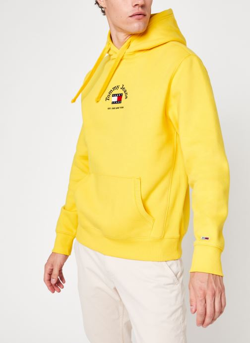 Vêtements Tommy Jeans Tjm Timeless Tommy Hoodie Jaune vue détail/paire