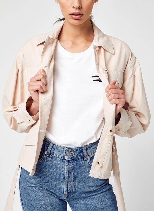 Vêtements Tommy Jeans Tjw Belted Overshirt Beige vue détail/paire