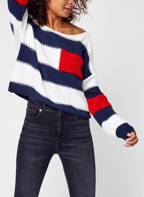 Vêtements Tommy Jeans Tjw  Rwb Stripe Sweater Multicolore vue détail/paire