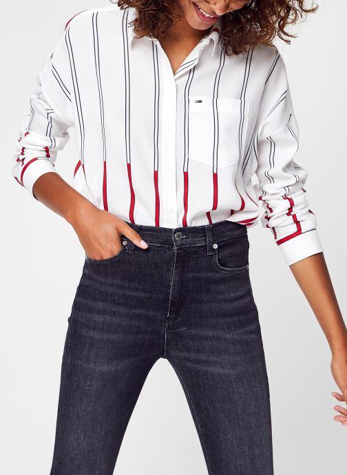 Vêtements Tommy Jeans Tjw Boxy Tommy Strip Blanc vue détail/paire