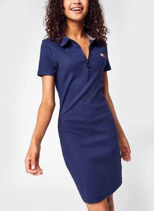Vêtements Tommy Jeans Tjw Essential Badge Bleu vue détail/paire