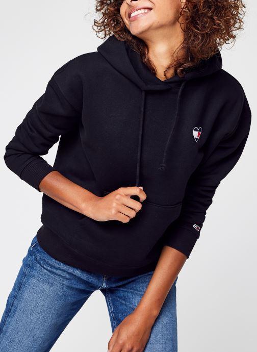 Vêtements Tommy Jeans Tjw Bxy Homespun Heart Hoodie Noir vue détail/paire