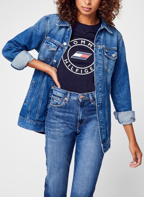 Vêtements Tommy Jeans Long Belted Truck Jk Bleu vue détail/paire
