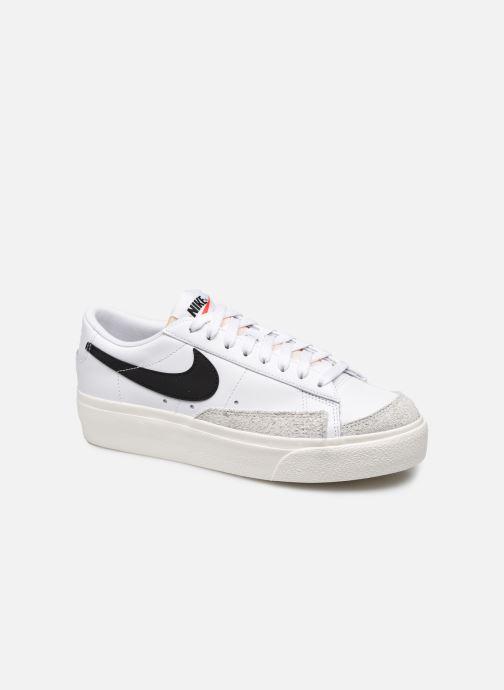 Sneaker Nike W Blazer Low Platform weiß detaillierte ansicht/modell