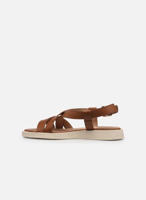 Sandali e scarpe aperte Geox D TAORMINA Marrone immagine frontale