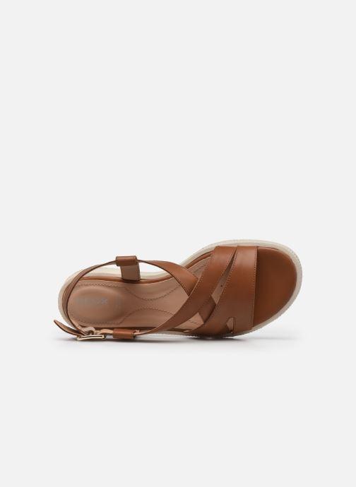 Sandali e scarpe aperte Geox D TAORMINA Marrone immagine sinistra